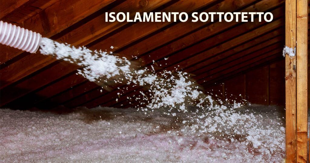 isolamento sottotetto con fibra di cellulosa